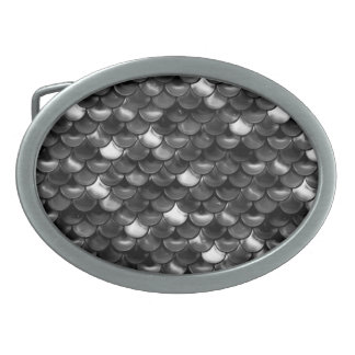 Falln Black and White Scales Belt Buckle