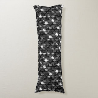 Falln Black and White Scales Body Pillow