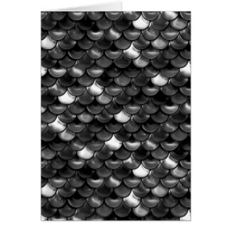 Falln Black and White Scales Card