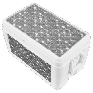 Falln Black and White Scales Chest Cooler
