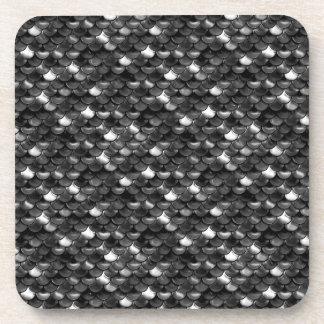 Falln Black and White Scales Coaster