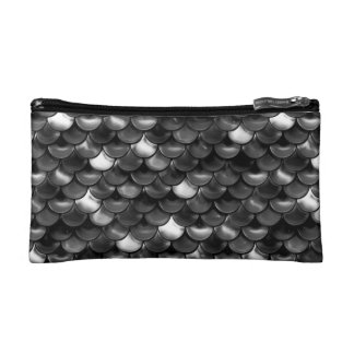 Falln Black and White Scales Cosmetic Bag
