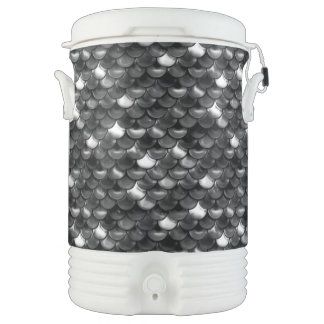 Falln Black and White Scales Drinks Cooler