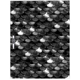 Falln Black and White Scales Dry Erase White Board