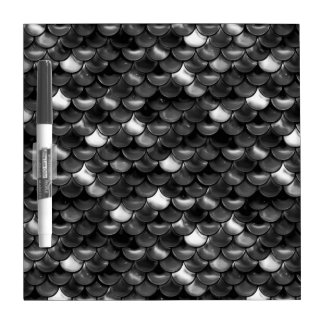 Falln Black and White Scales Dry-Erase Whiteboards