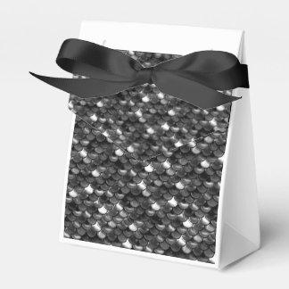 Falln Black and White Scales Favor Box