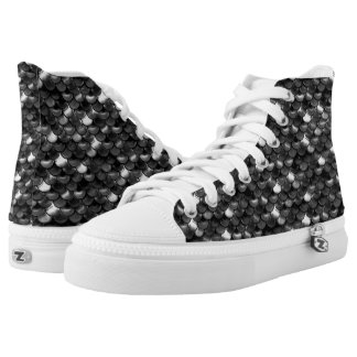 Falln Black and White Scales High Tops