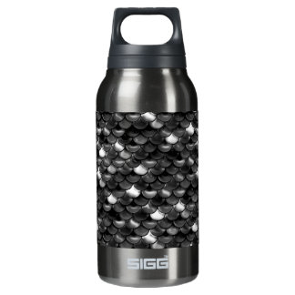 Falln Black and White Scales Insulated Water Bottle