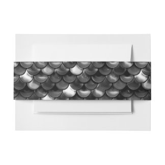 Falln Black and White Scales Invitation Belly Band