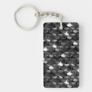 Falln Black and White Scales Keychain