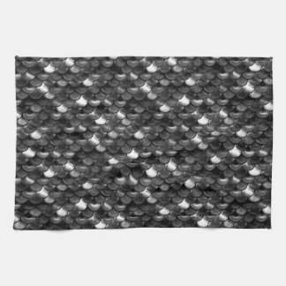 Falln Black and White Scales Kitchen Towel