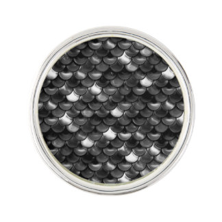 Falln Black and White Scales Lapel Pin