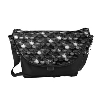 Falln Black and White Scales Messenger Bag