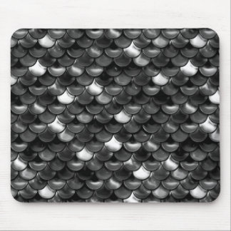 Falln Black and White Scales Mouse Pad