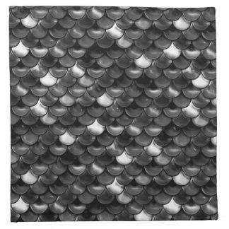 Falln Black and White Scales Napkin