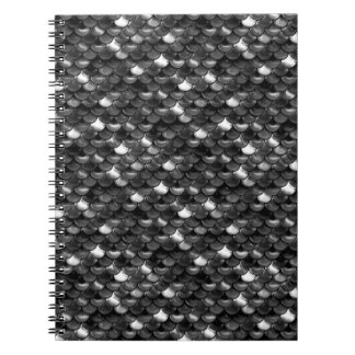 Falln Black and White Scales Notebook