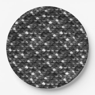 Falln Black and White Scales Paper Plate
