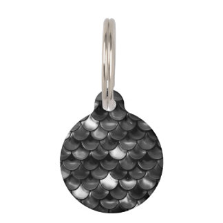 Falln Black and White Scales Pet ID Tag