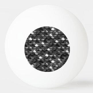 Falln Black and White Scales Ping Pong Ball