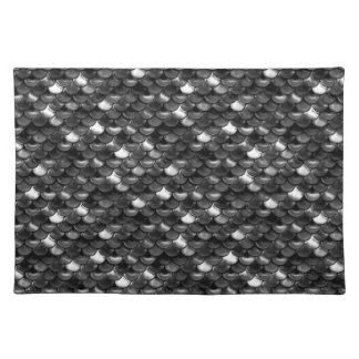Falln Black and White Scales Placemat