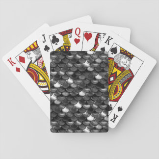 Falln Black and White Scales Playing Cards