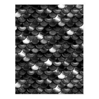 Falln Black and White Scales Postcard