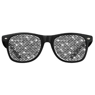 Falln Black and White Scales Retro Sunglasses
