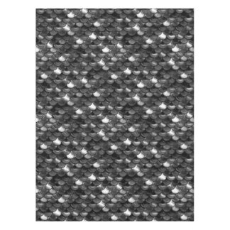 Falln Black and White Scales Tablecloth