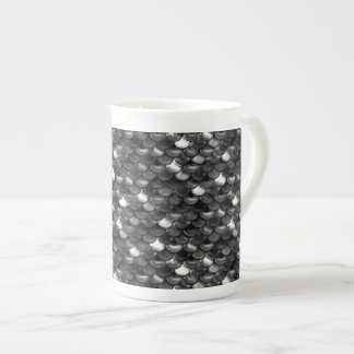 Falln Black and White Scales Tea Cup
