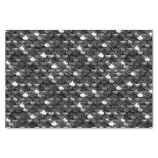 Falln Black and White Scales Tissue Paper