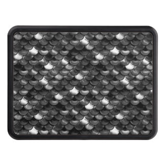 Falln Black and White Scales Trailer Hitch Cover