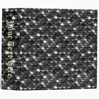 Falln Black and White Scales Vinyl Binder