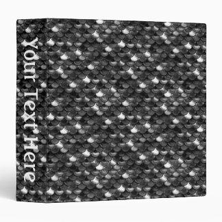Falln Black and White Scales Vinyl Binders