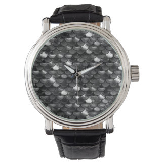 Falln Black and White Scales Watch