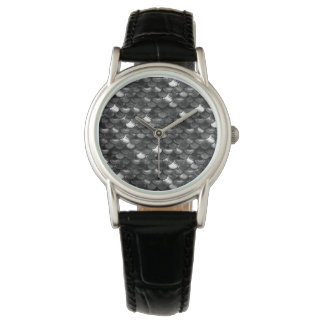 Falln Black and White Scales Watches