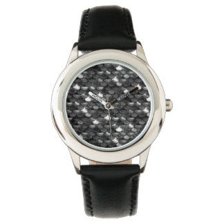 Falln Black and White Scales Wrist Watches