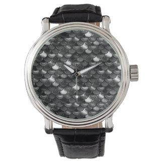 Falln Black and White Scales Wristwatch