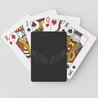 Falln Black Angel Wings Playing Cards