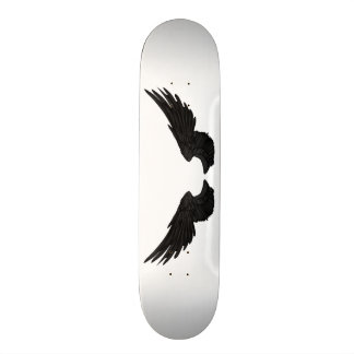 Falln Black Angel Wings Skate Board