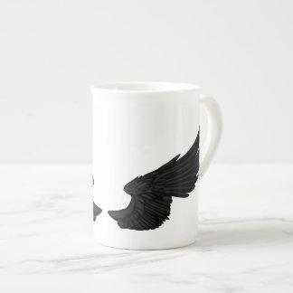 Falln Black Angel Wings Tea Cup