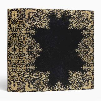 Falln Black Gold Filigree Book Binder