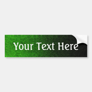 Falln Black & Green Glitter Gradient Bumper Sticker