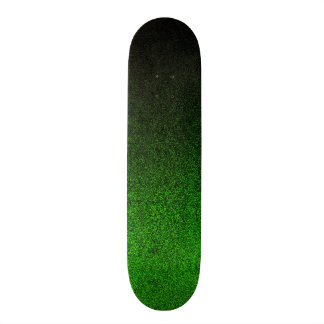 Falln Black & Green Glitter Gradient Custom Skateboard