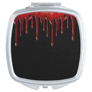 Falln Blood Drips Black Compact Mirror