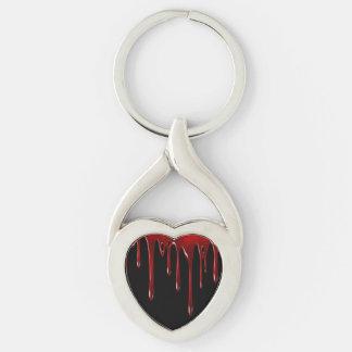 Falln Blood Drips Black Keychain