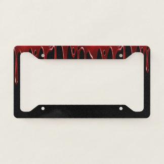 Falln Blood Drips Black License Plate Frame