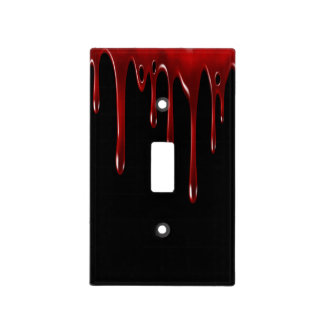 Falln Blood Drips Black Light Switch Cover