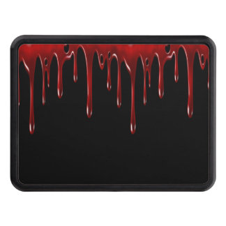 Falln Blood Drips Black Trailer Hitch Cover