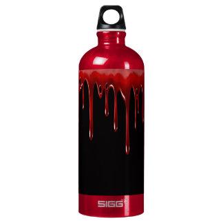 Falln Blood Drips Black Water Bottle