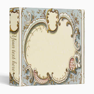 Falln Blue and Gold Victorian Frame Binder